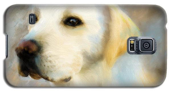 Yellow Lab Portrait Galaxy S5 Case