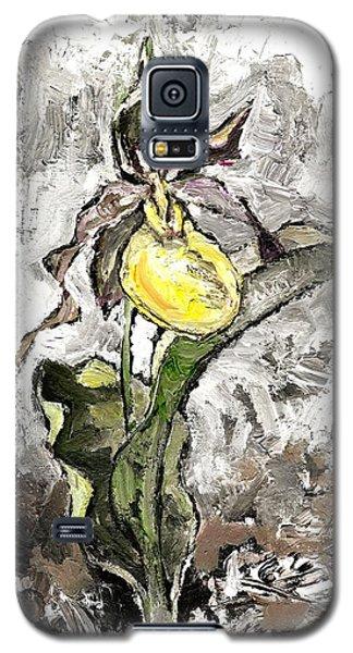 Yellow Lady's Slipper Galaxy S5 Case