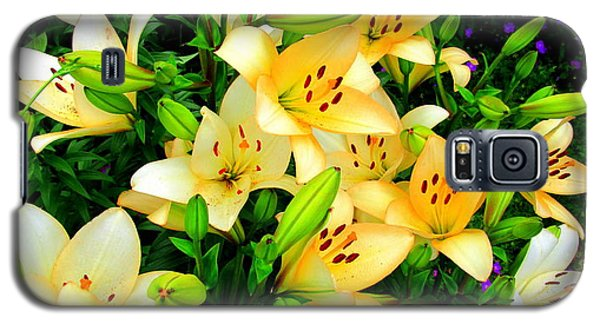 Galaxy S5 Case featuring the photograph Yellow Lilies 2 by Randall Weidner