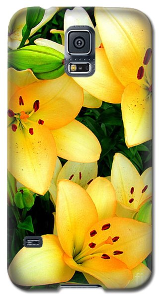 Galaxy S5 Case featuring the photograph Yellow Lilies 3 by Randall Weidner