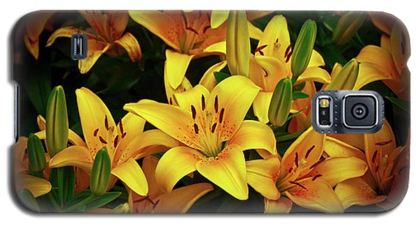 Galaxy S5 Case featuring the photograph Yellow Lilies by Joann Copeland-Paul