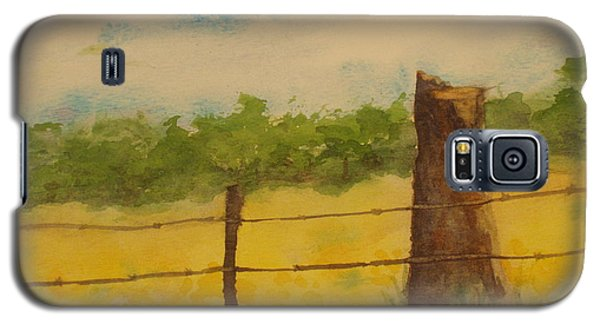 Galaxy S5 Case featuring the painting Yellow Meadow  by Vicki  Housel