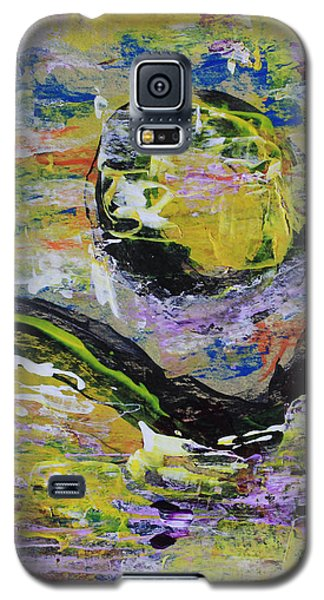 Yellow Moon Abstract Galaxy S5 Case