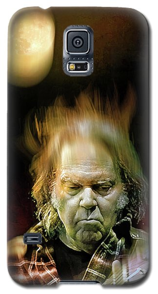 Yellow Moon On The Rise Galaxy S5 Case by Mal Bray