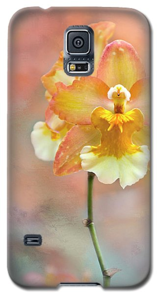 Galaxy S5 Case featuring the photograph Yellow Orchid by Ann Bridges