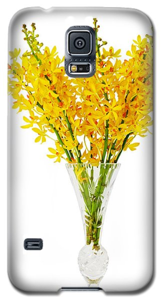 Yellow Orchid In Crystal Vase Galaxy S5 Case