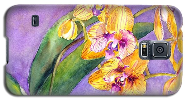 Yellow Orchids Galaxy S5 Case