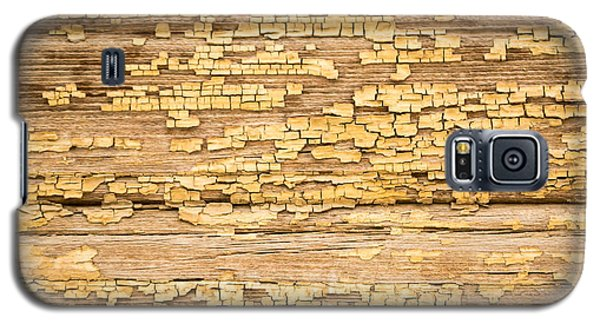 Galaxy S5 Case featuring the photograph Yellow Painted Aged Wood by John Williams