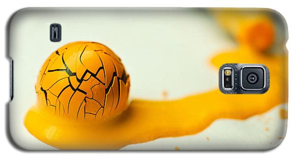 Yellow Painted Ball Galaxy S5 Case