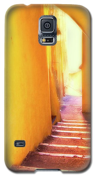 Galaxy S5 Case featuring the photograph Yellow Passage  by Harry Spitz