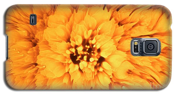 Yellow Flower Under The Microscope Galaxy S5 Case