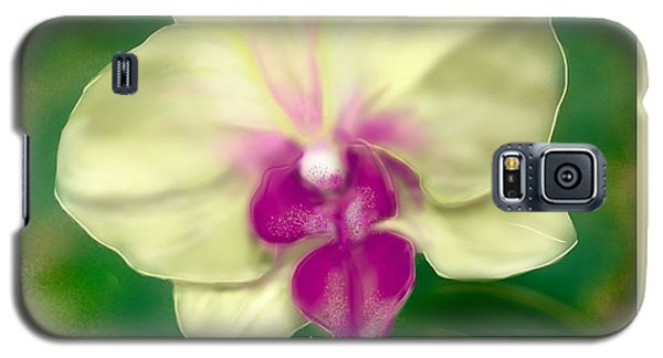 Yellow Phalenopsis Galaxy S5 Case