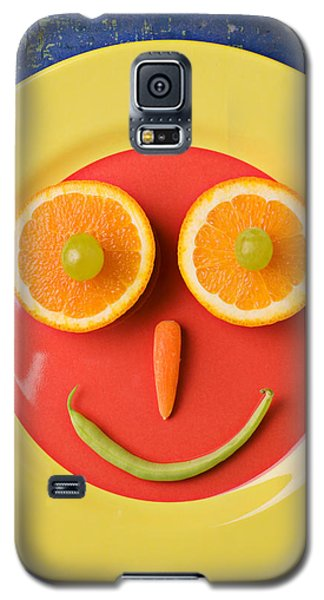 Yellow Plate With Food Face Galaxy S5 Case