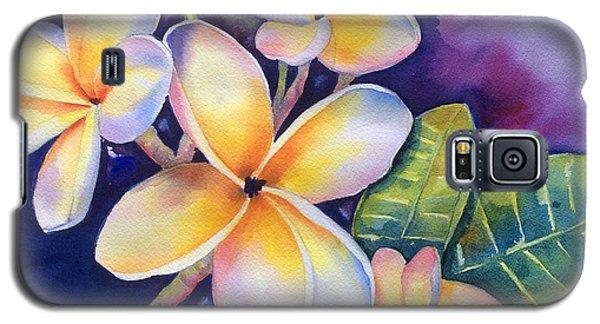Yellow Plumeria Flowers Galaxy S5 Case