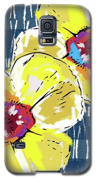 Yellow Poppies 2- Art By Linda Woods Galaxy S5 Case by Linda Woods