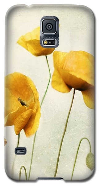Yellow Poppies - Square Version Galaxy S5 Case