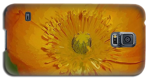 Galaxy S5 Case featuring the photograph Yellow Poppy by Donna Bentley