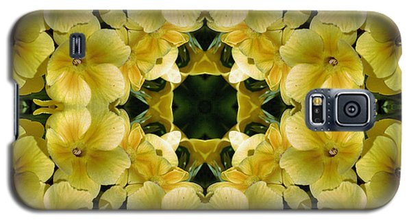 Yellow Primrose Kaleidoscope Galaxy S5 Case by Smilin Eyes  Treasures
