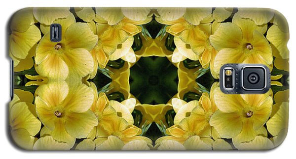 Yellow Primrose Kaleidoscope Galaxy S5 Case