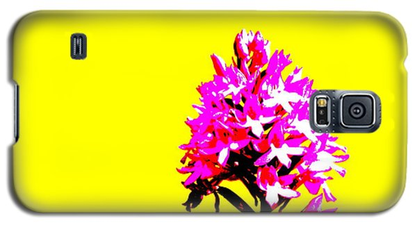 Yellow Pyramid Orchid Galaxy S5 Case