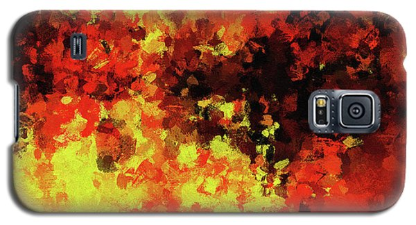 Galaxy S5 Case featuring the painting Yellow, Red And Black by Ayse Deniz