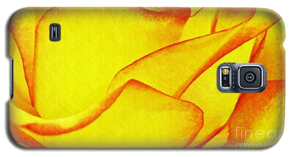 Yellow Rose Abstract Galaxy S5 Case