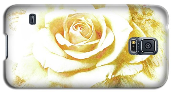 Galaxy S5 Case featuring the photograph yellow Rose by Athala Carole Bruckner