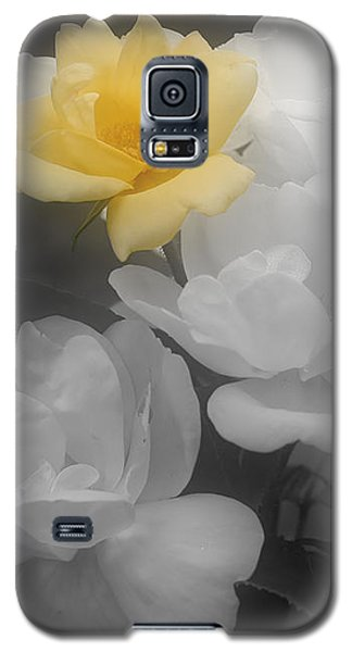 Yellow Rose Cluster Partial Color Galaxy S5 Case by Smilin Eyes  Treasures