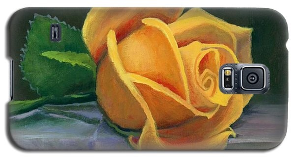 Yellow Rose Galaxy S5 Case by Janet King
