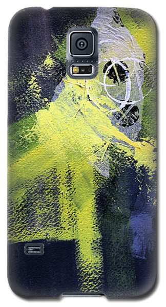 Galaxy S5 Case featuring the painting Yellow Splash by Nancy Merkle