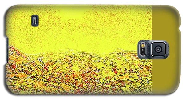 Galaxy S5 Case featuring the digital art Yellow Sunlit Path - Marin California by Joel Bruce Wallach