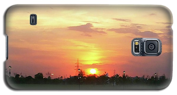 Yellow Sunset At Park Galaxy S5 Case