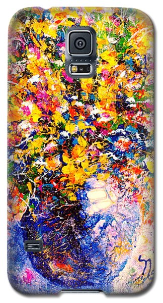 Yellow Sunshine Galaxy S5 Case by Natalie Holland