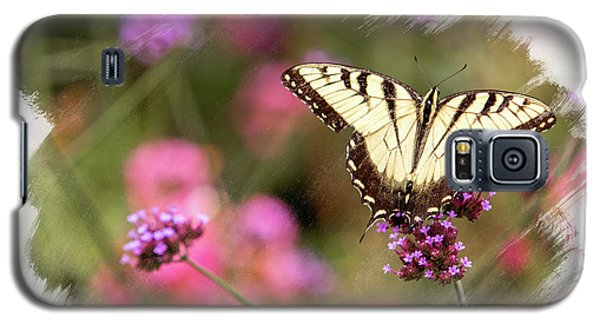 Yellow Swallowtail With Brushed Edge Galaxy S5 Case