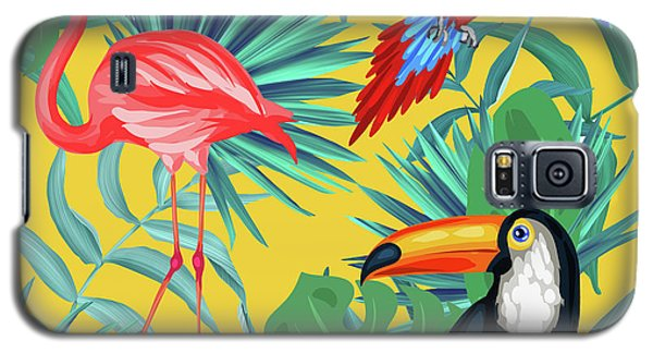Fantasy Galaxy S5 Case - Yellow Tropic  by Mark Ashkenazi