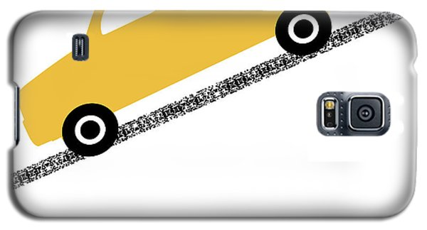 Truck Galaxy S5 Case - Yellow Truck On Road- Art By Linda Woods by Linda Woods