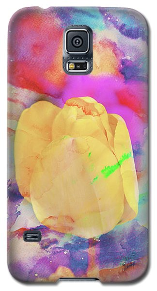 Yellow Tulip Galaxy S5 Case by Toni Hopper