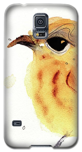 Galaxy S5 Case featuring the painting Yellow Warbler by Dawn Derman