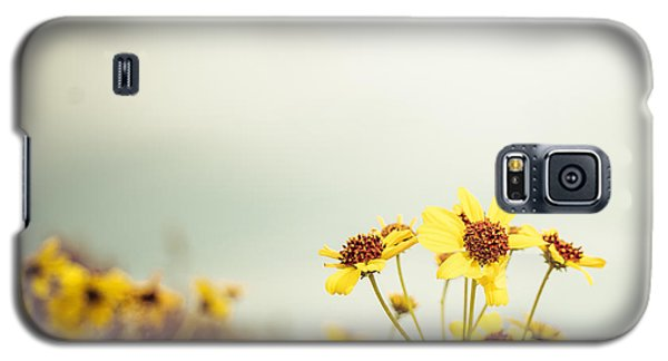 Galaxy S5 Case featuring the photograph Yellow Wildflowers by Mary Hone