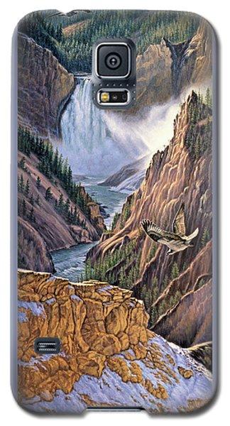Yellowstone Canyon-osprey Galaxy S5 Case by Paul Krapf