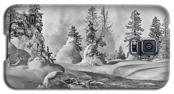 Galaxy S5 Case featuring the photograph Yellowstone In Winter by Gary Lengyel
