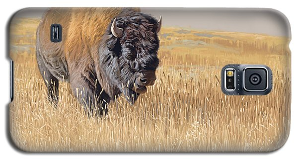 Bison Galaxy S5 Case - Yellowstone King by Aaron Blaise
