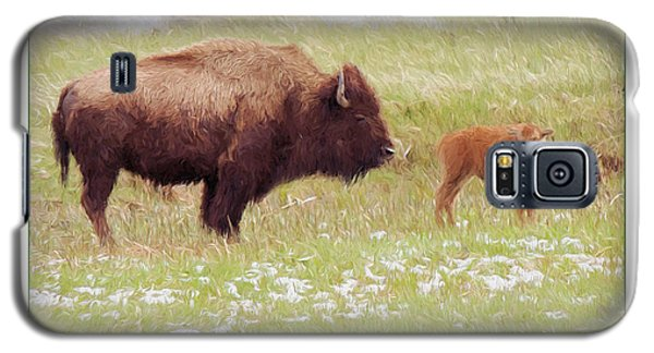 Yellowstone Poster With Bison Galaxy S5 Case