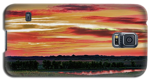 Yellowstone River Wildfire Sunset Galaxy S5 Case