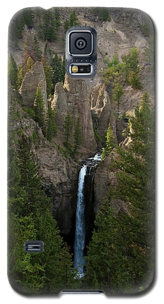 Galaxy S5 Case featuring the photograph Yellowstone Waterfall by Roger Mullenhour