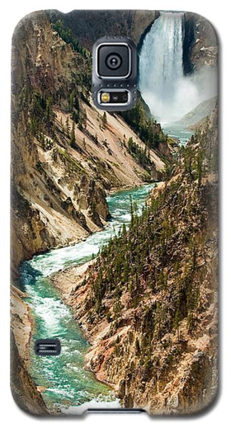 Yellowstone Waterfalls Galaxy S5 Case by Sebastian Musial