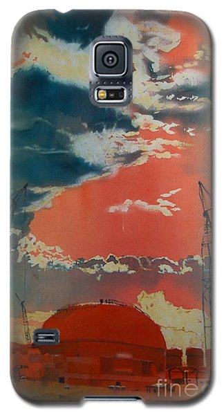 Galaxy S5 Case featuring the painting Yin And Yang by Elizabeth Carr