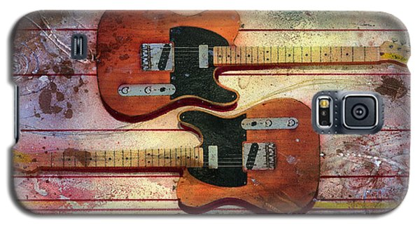 Galaxy S5 Case featuring the painting Yin-yang Teles by Andrew King