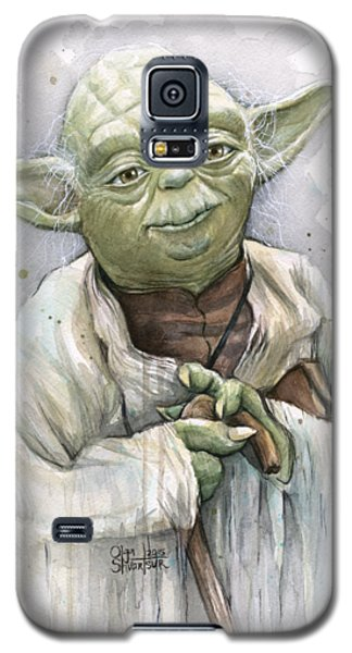 Star Wars Galaxy S5 Case - Yoda by Olga Shvartsur