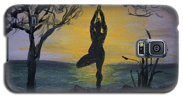Yoga Tree Pose Galaxy S5 Case by Donna Walsh
